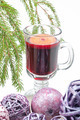 Red mulled wine and xmas decorations - PhotoDune Item for Sale
