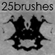 25 Rorschach Brushes - GraphicRiver Item for Sale