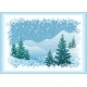 Winter Mountain Landscape with Fir Trees - GraphicRiver Item for Sale
