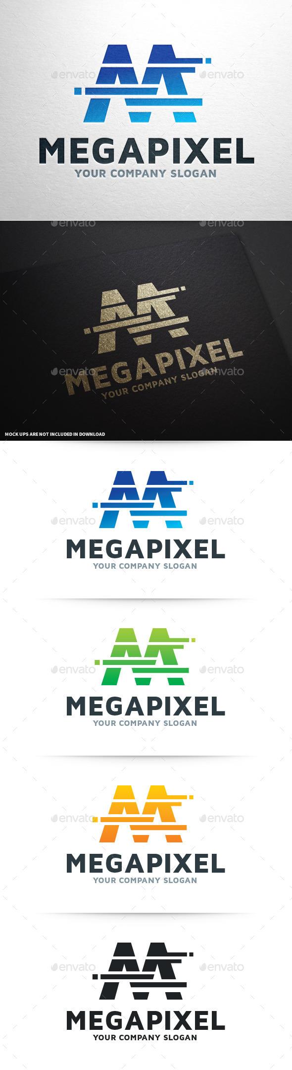 GraphicRiver Mega Pixel Letter M Logo 9253708
