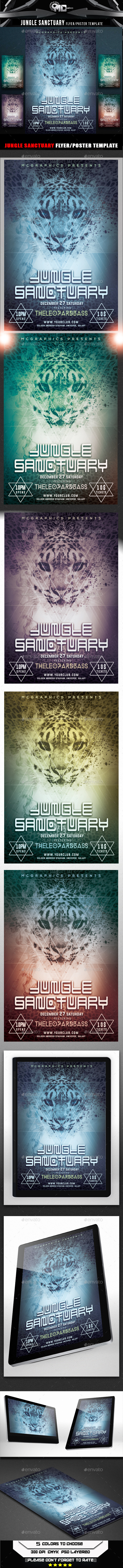 GraphicRiver Jungle Sanctuary Flyer Template 9253713