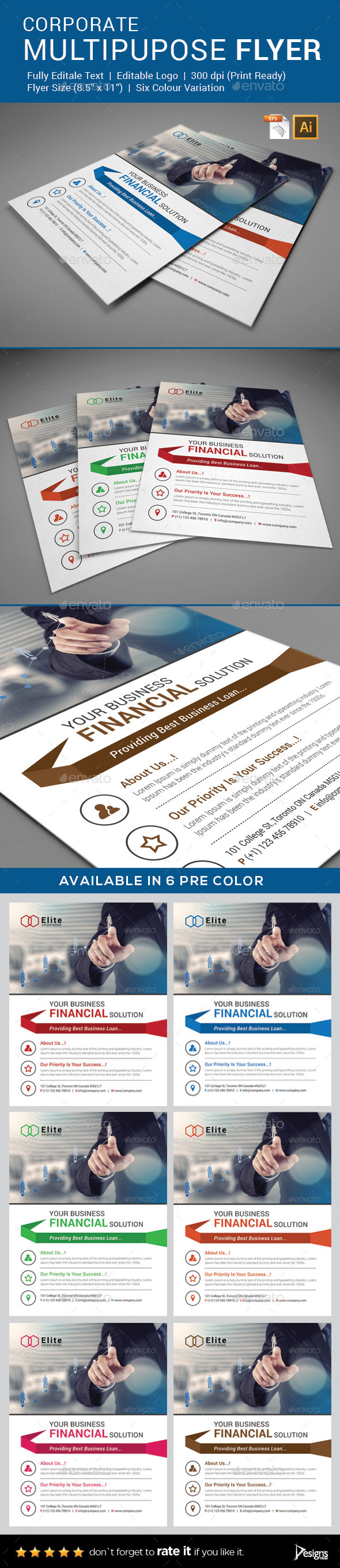 GraphicRiver Flyer Multipurpose Business Flyer 3 9253878