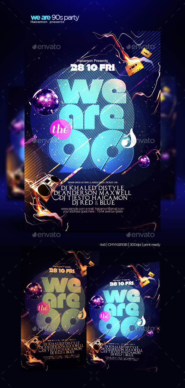GraphicRiver We Are The 90 Flyer 9253908