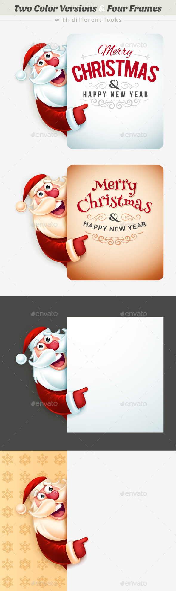 GraphicRiver Santa Claus Christmas Frames 9253944