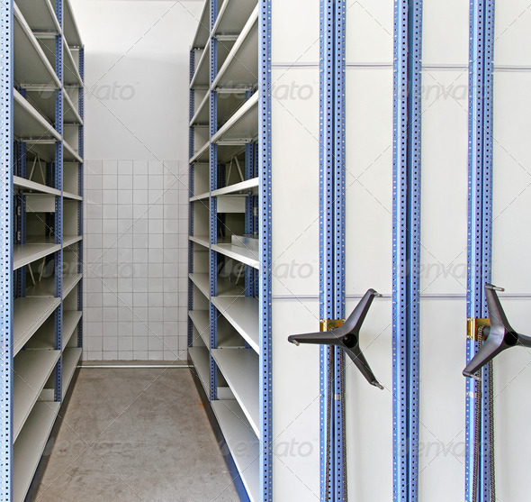 Rolling Shelving - Stock Photo - Images