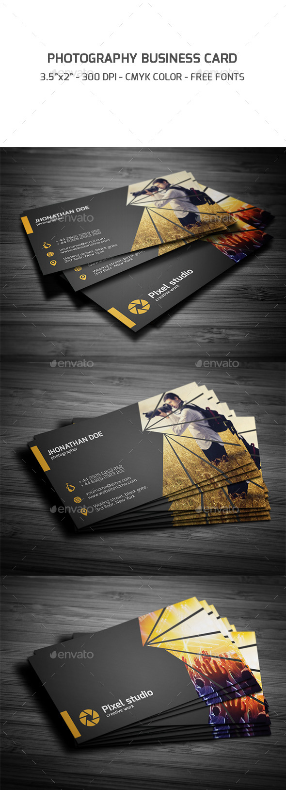 GraphicRiver Photography Business Card 9254272