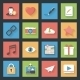 Socia Media Web Flat Icons Set - GraphicRiver Item for Sale