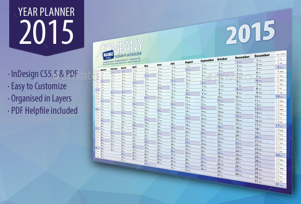 GraphicRiver Year Planner 2015 9204512