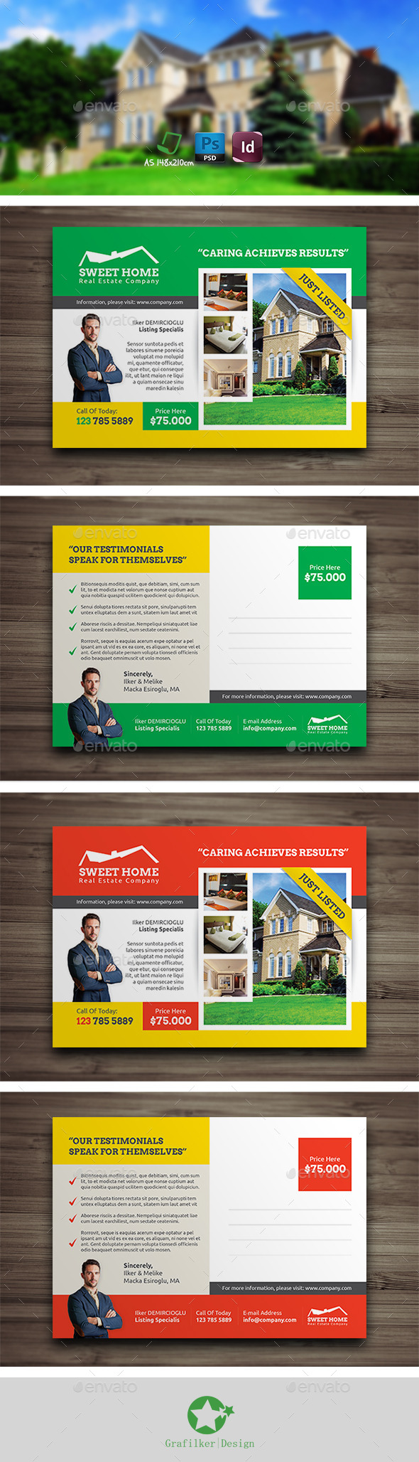 GraphicRiver Real Estate Postcard Templates 9254351