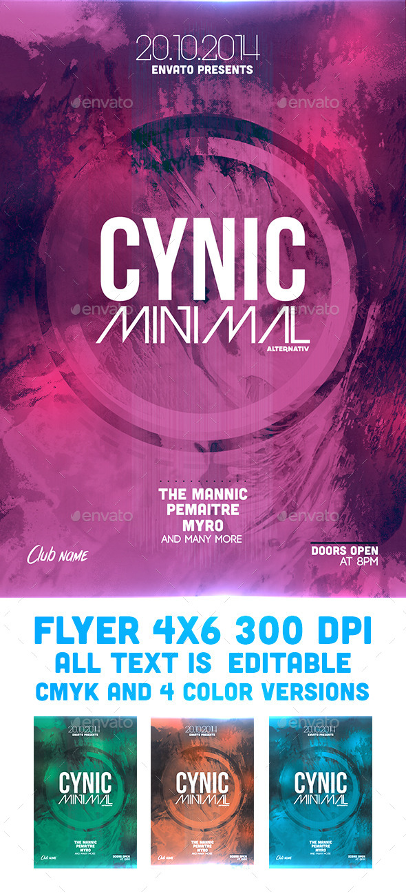 GraphicRiver Cynic Minimal Flyer Template 9254353