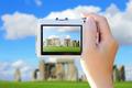 camera taking photo with Stonehenge - PhotoDune Item for Sale