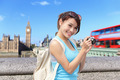 Happy woman travel in London - PhotoDune Item for Sale