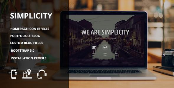 Simplicity - Responsive Drupal 7 theme - Portfolio Creative