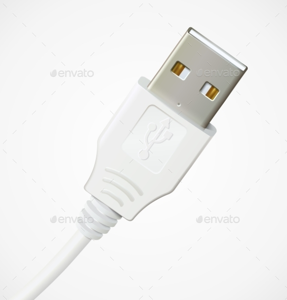 GraphicRiver Photorealistic USB Cable 9254641