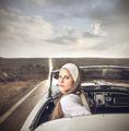 In a vintage car - PhotoDune Item for Sale