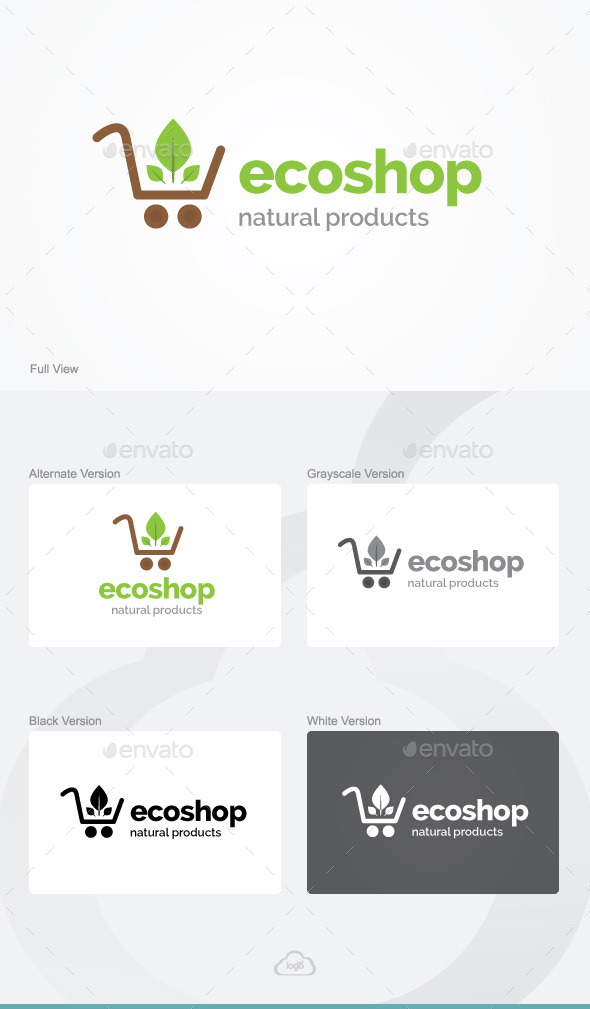 GraphicRiver Eco Shop Logo Template 9254787