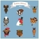 Fashion Hipster Animals set 3 - GraphicRiver Item for Sale