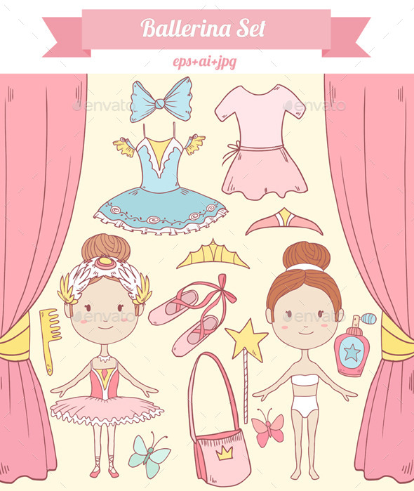 GraphicRiver Ballerina Set 9254923
