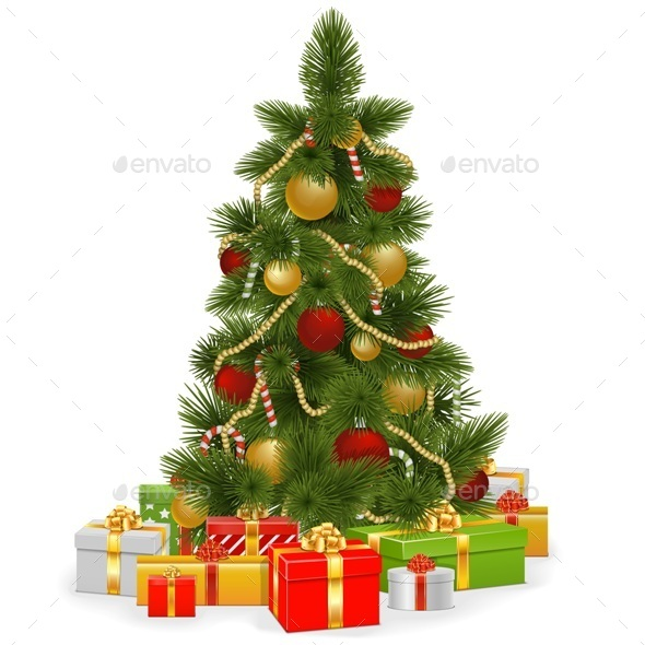 GraphicRiver Christmas Tree with Gifts 9255063