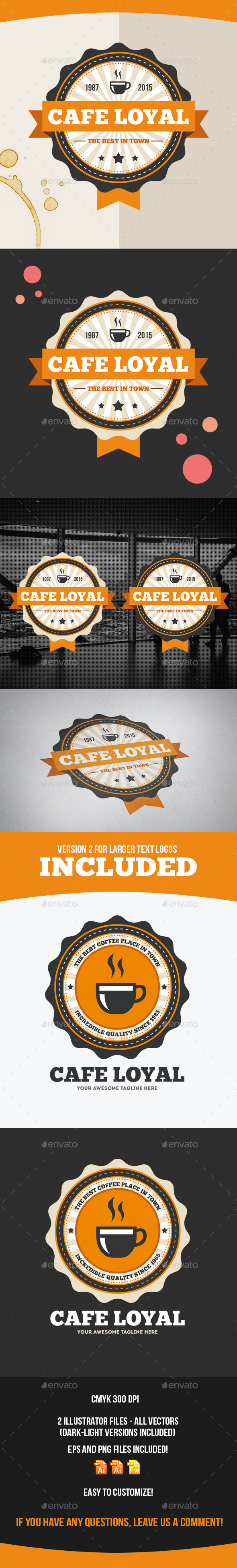 GraphicRiver Cafe Loyal Logo Template 9222659