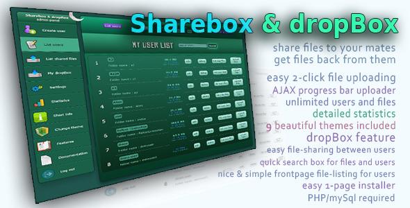 Sharebox & dropBox - file sharing - PHP Scripts