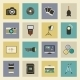 Photo Equipment Flat Icons Set  - GraphicRiver Item for Sale