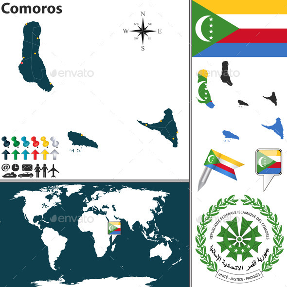GraphicRiver Map of Comoros 9255199