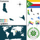 Map of Comoros - GraphicRiver Item for Sale