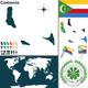 Map of Comoros - GraphicRiver Item for Sale