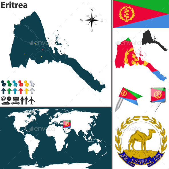 GraphicRiver Map of Eritrea 9255216