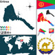 Map of Eritrea - GraphicRiver Item for Sale