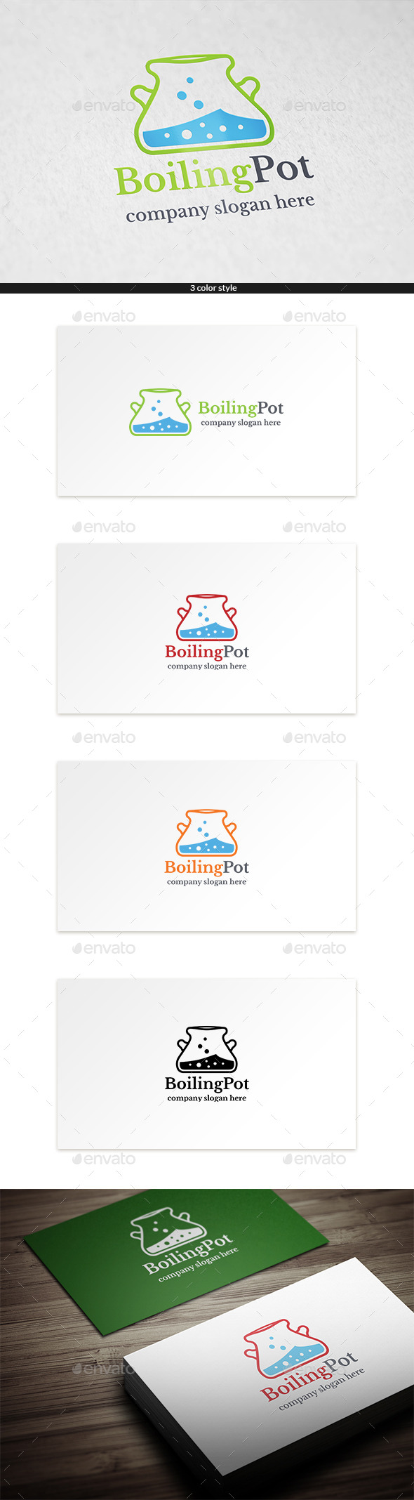 GraphicRiver Boiling Pot Logo Template 9255231