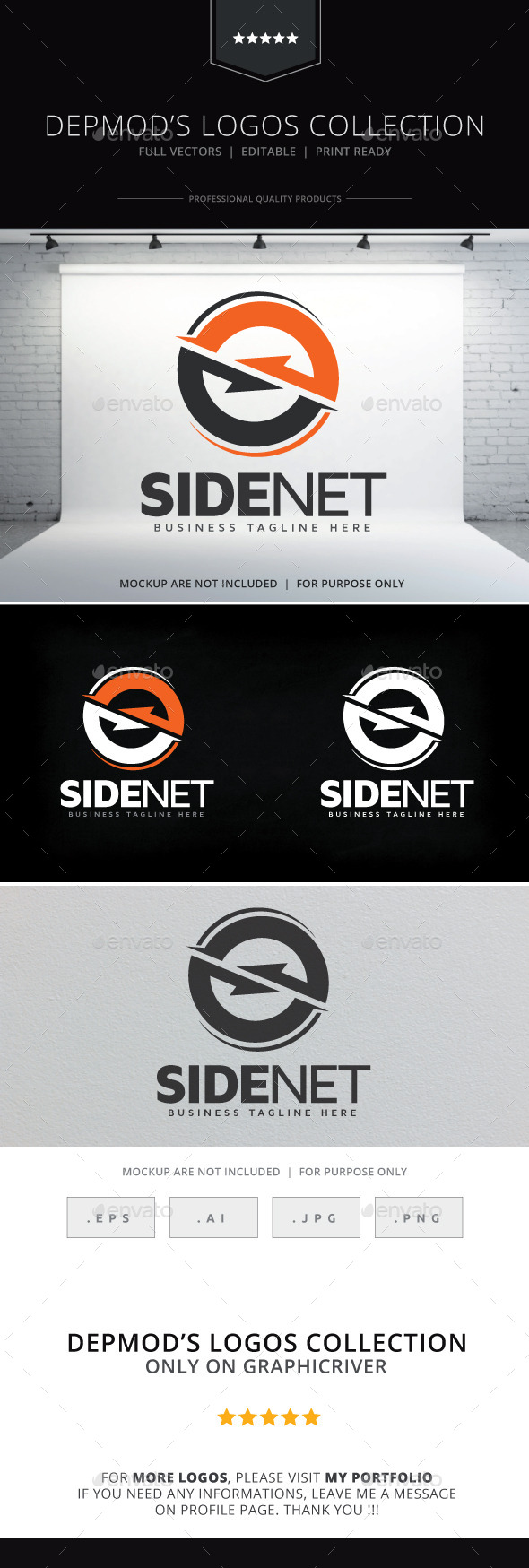 GraphicRiver Side Net Logo 9255324