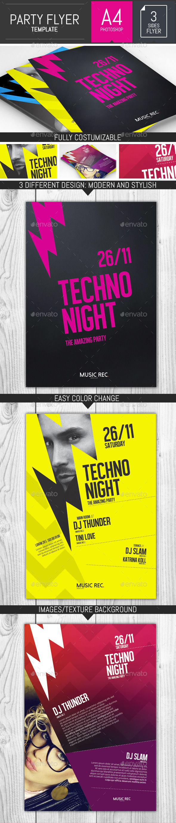 GraphicRiver Let s Rock Party Flyer Template 9255448