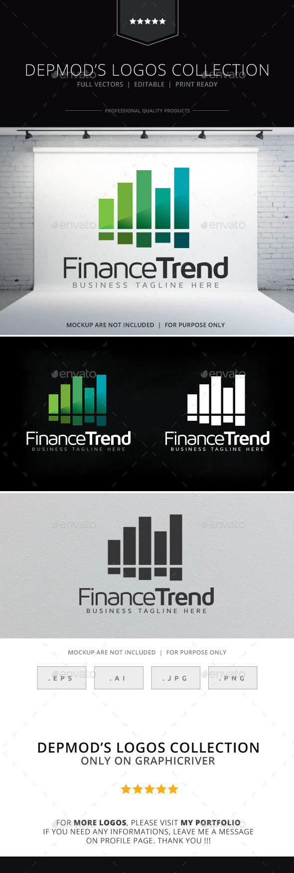 GraphicRiver Finance Trend Logo 9255537
