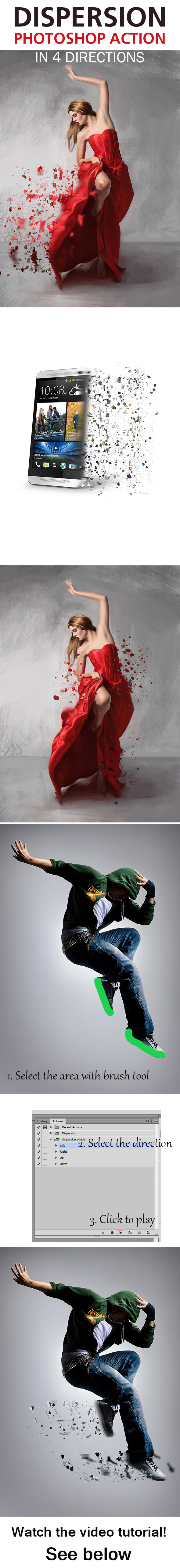 Dispersion Photoshop Effect Action - Photo Effects Actions