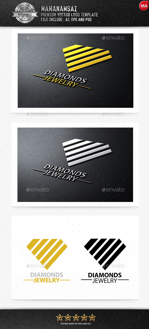 GraphicRiver Diamonds Jewelry Logo 9255594