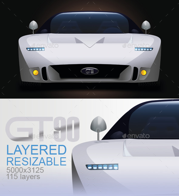 GraphicRiver GT90 Concept Car 9255630