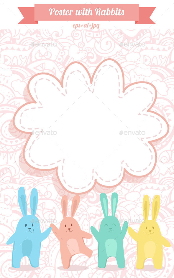 GraphicRiver Poster with Rabbits 9255726