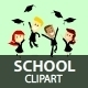 School Clipart - GraphicRiver Item for Sale
