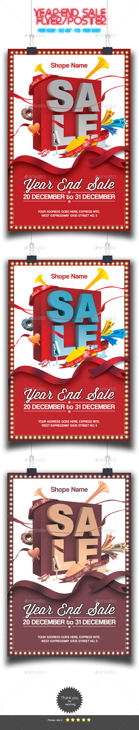 GraphicRiver Year-End Sale Flyer Poster 9255879