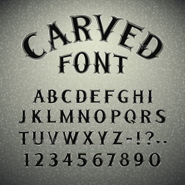 GraphicRiver Font Carved in Stone 9236146