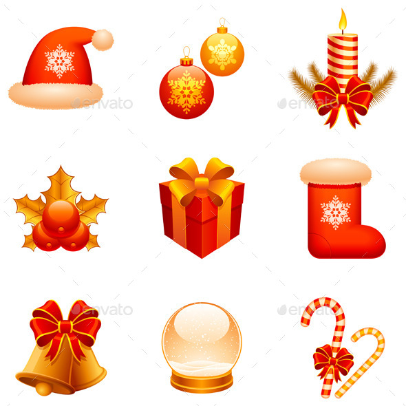 GraphicRiver Christmas Icons 9255921