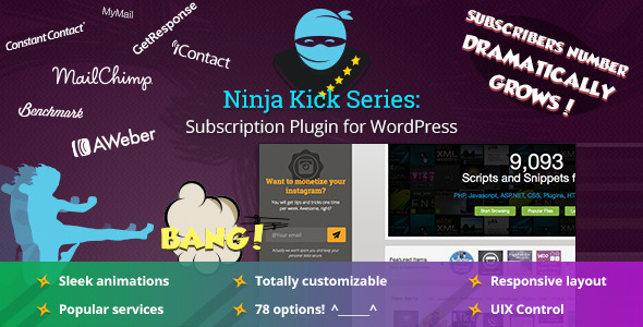 Ninja Kick Subscription WordPress Plugin