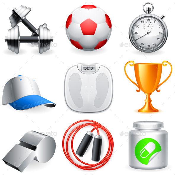 GraphicRiver Fitness Icons 9255937