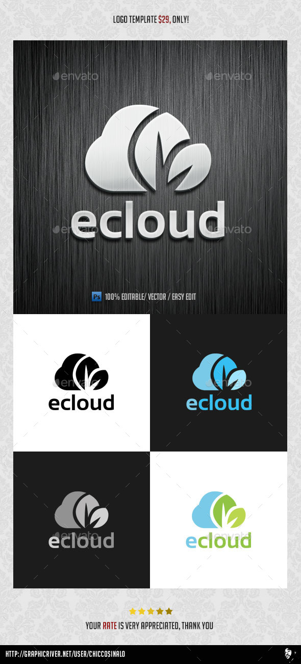 GraphicRiver eCloud Logo Template 9255957