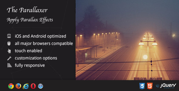 CodeCanyon Parallaxer Parallax Effects on Content 9256004