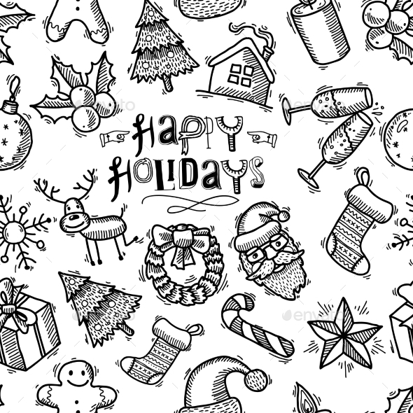 GraphicRiver Christmas Seamless Pattern 9256199