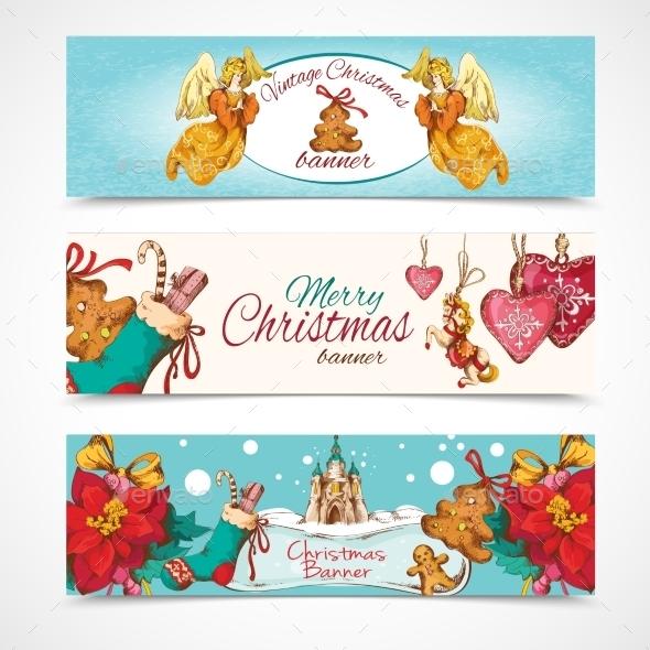GraphicRiver Christmas Banners Set 9256284