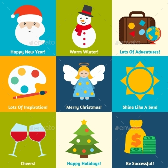 GraphicRiver Christmas Wishes Set 9256289